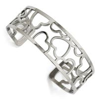 Chisel Stainless Steel Hearts Cuff Bangle - china