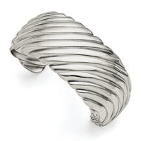 Chisel Stainless Steel Polished Cuff Bangle - china