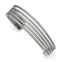 Chisel Stainless Steel Textured Cuff Bangle - china