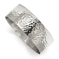 Chisel Stainless Steel Polished Hammered Bangle - china