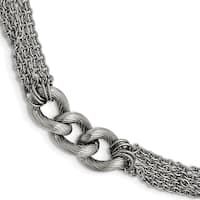 Chisel Stainless Steel Oval Chain with 1 Inch Extension Bracelet - china