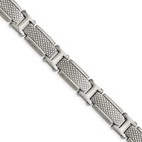Chisel Stainless Steel Polished and Textured Bracelet - china