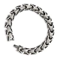 Chisel Stainless Steel Antiqued Bracelet - china