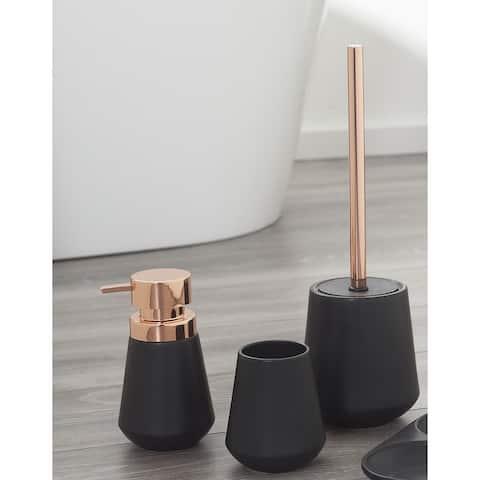 Sealskin 3-Piece Bathroom Accessories Set Conical Copper Black Porcelain