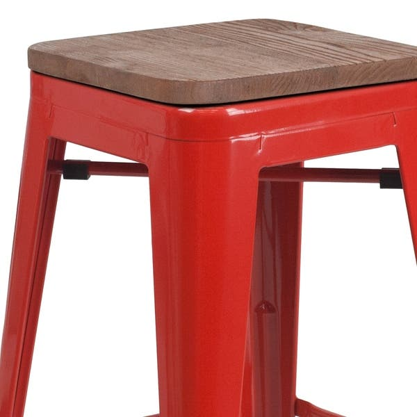Magnificent Shop 24 High Backless Metal Counter Height Stool With Squirreltailoven Fun Painted Chair Ideas Images Squirreltailovenorg