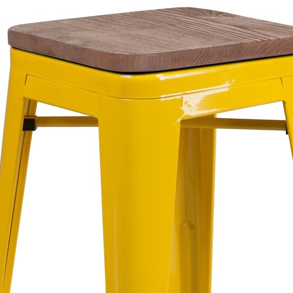 Tremendous Shop 24 High Backless Metal Counter Height Stool With Squirreltailoven Fun Painted Chair Ideas Images Squirreltailovenorg