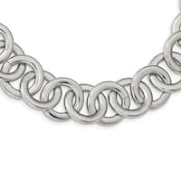 Chisel Stainless Steel Polished Circle Link 17-inch Necklace - china