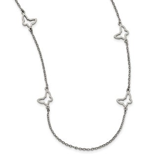 Chisel Stainless Steel Butterfly Necklace - china