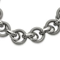 Chisel Stainless Steel Fancy Link 22-inch Necklace - china