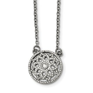 Chisel Stainless Steel Polished CZ 2mm Necklace