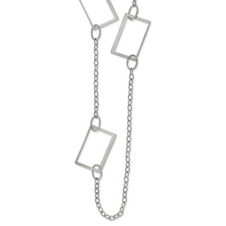 Chisel Stainless Steel 39-inch Square Link Necklace - china