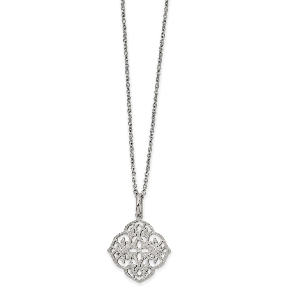 3.0mm Jewel Zone US Sterling Silver 16-18 Length Italian Crafted Heart Chain Necklace