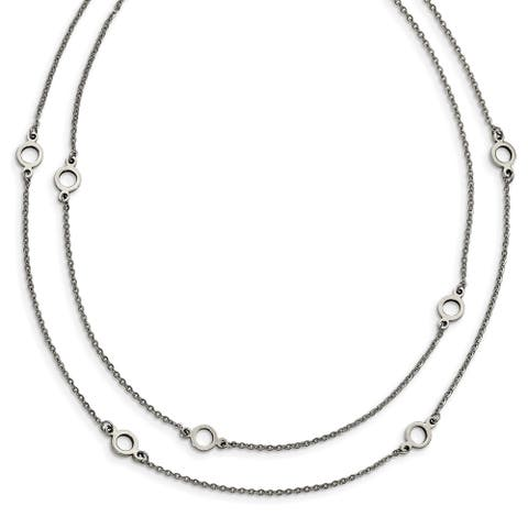 Chisel Stainless Steel Two Strand with 2-inch Extension Necklace - china