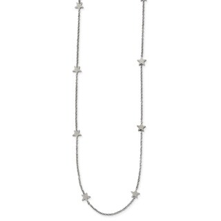 Chisel Stainless Steel Polished Stars 35-inch Necklace - china