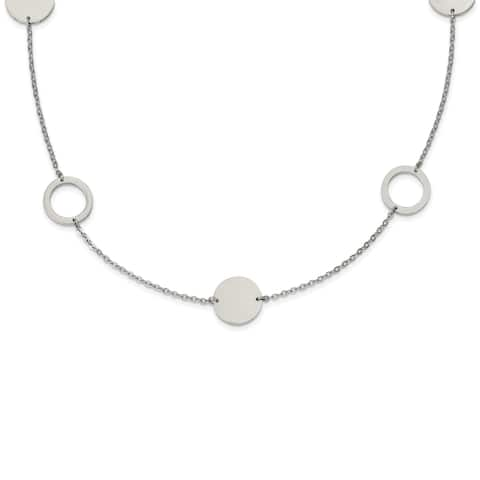 Chisel Stainless Steel Polished 35-inch Circle Link Necklace