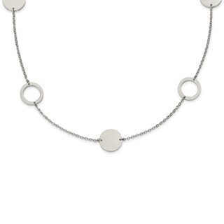 Chisel Stainless Steel Polished 35-inch Circle Link Necklace - china