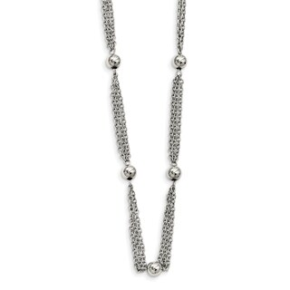 Chisel Stainless Steel Multi Strand with Beads 28-inch Necklace - china