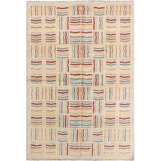 ECARPETGALLERY Hand-knotted Finest Ziegler Chobi Beige Wool Rug - 6'6 x 9'10