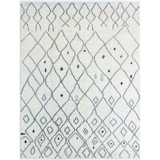 ECARPETGALLERY Hand-knotted Shalimar Cream Wool Rug - 7'6 x 9'9