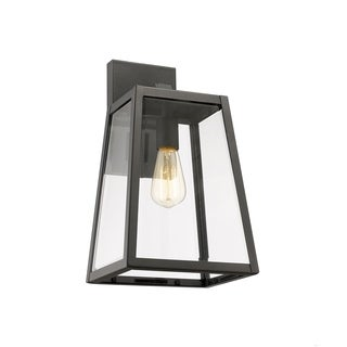 Chloe 1-light Textured Black Outdoor Wall Sconce