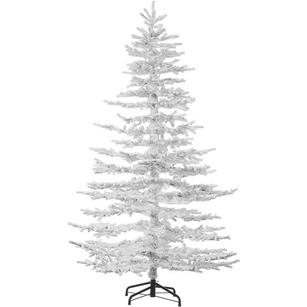 Shop Fraser Hill Farm Arctic Pine White Flocked 7.5-inch Artificial  Christmas Tree, No Lights - Snow - Free Shipping Today - Overstock.com -  23479663 - Shop Fraser Hill Farm Arctic Pine White Flocked 7.5-inch Artificial