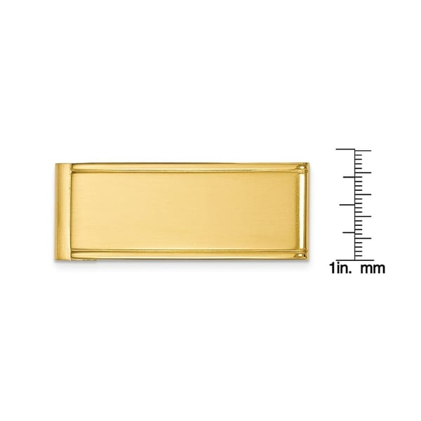 stainless-steel Brushed and Polished Yellow IP-plated Money Clip