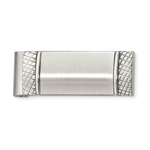 Chisel Stainless Steel Brushed and Textured Men's Money Clip