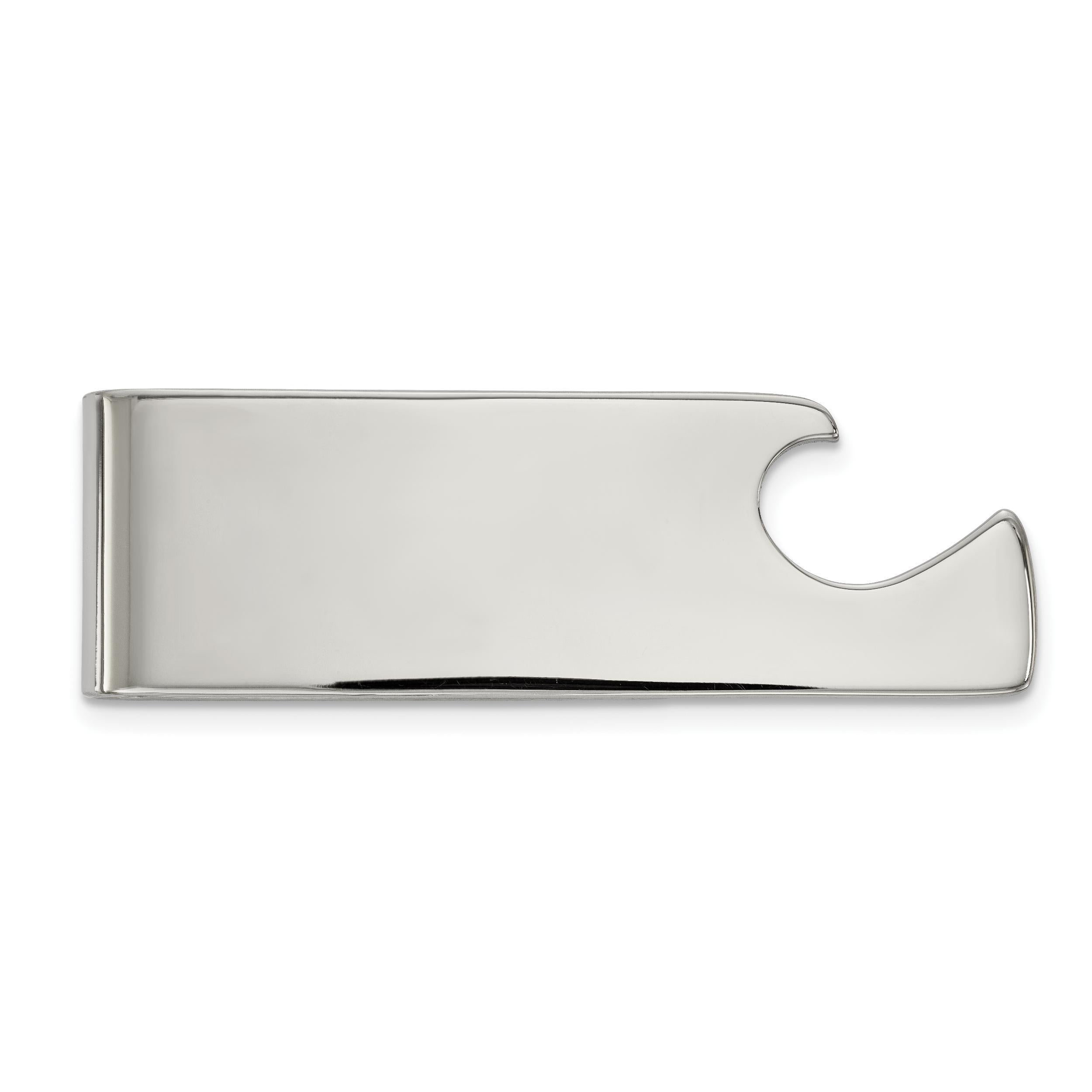 Chisel Stainless Steel Polished Engravable Money Clip
