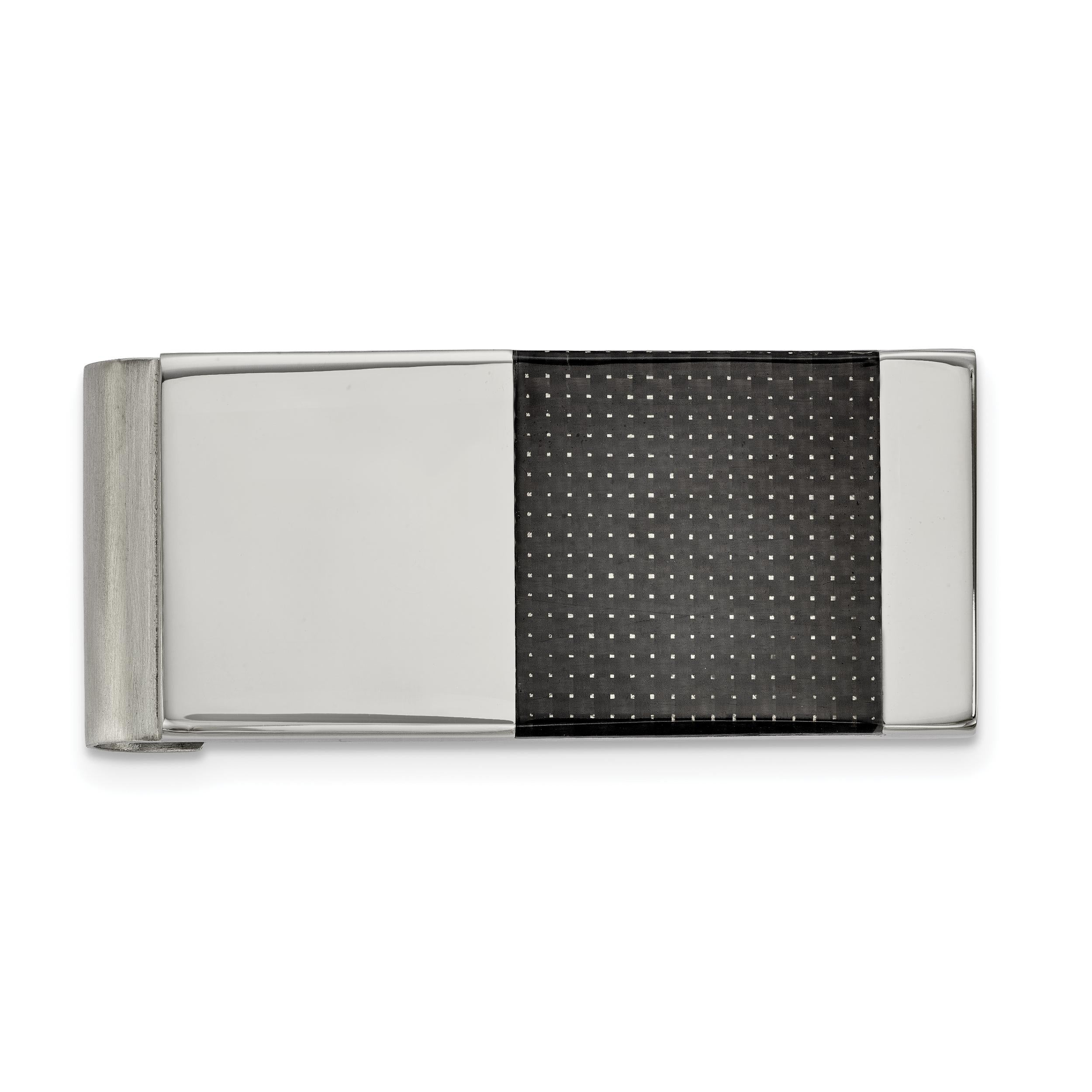 Stainless Steel Polished//Brushed Money Clip