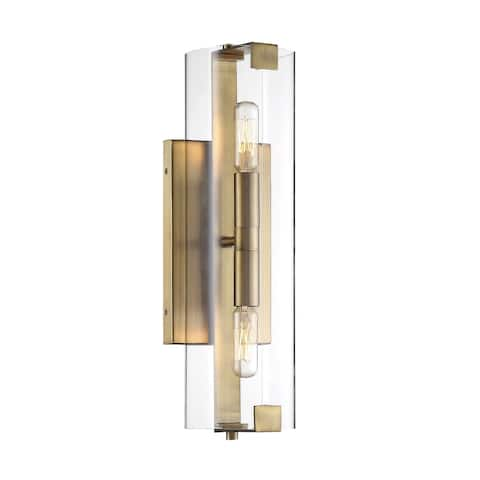 Winfield Warm Brass 2-light Wall Sconce