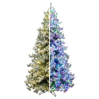 Forever Tree 9' Iced Layered Aspen Pine w Remote (5 Functions)