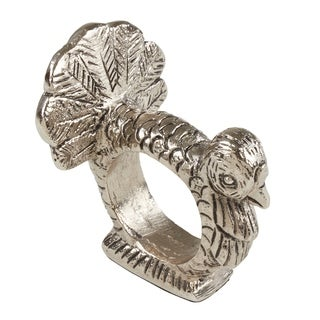 Table Napkin Rings With Turkey Design (Set of 4)