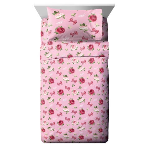 Nickelodeon Jojo Siwa Roses & Bows Twin Sheet Set