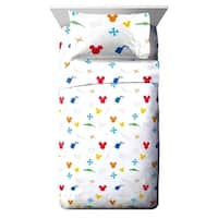 Disney Mickey Mouse Trophy Twin Sheet Set
