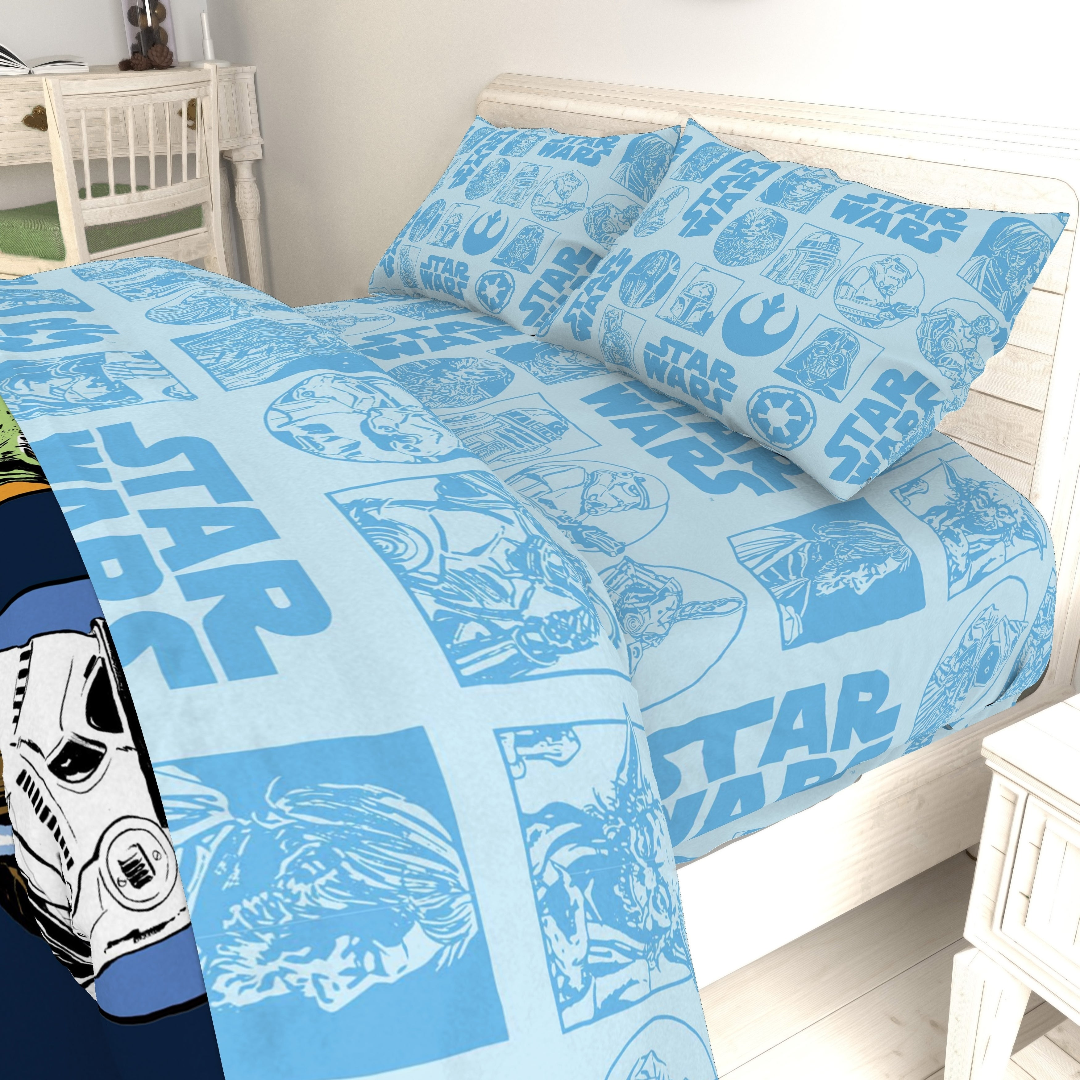 Star Wars Galactic Grid Twin Sheet Set Overstock 23480126