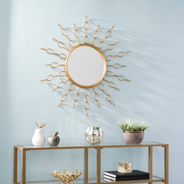 Silver Orchid Bech Soft Gold Oversized Gold Starburst Mirror - Soft Gold. Opens flyout.