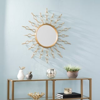 Silver Orchid Bech Soft Gold Oversized Gold Starburst Mirror - Soft Gold