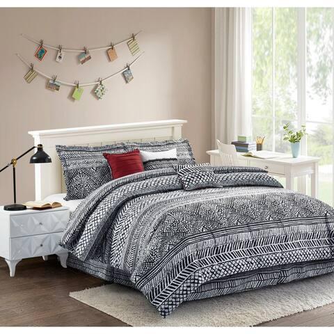 R2Zen Mosaic Black 7-Piece Comforter Set