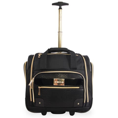 Bebe Evans 15-Inch Under the seat Rolling Carry-on Tote Bag