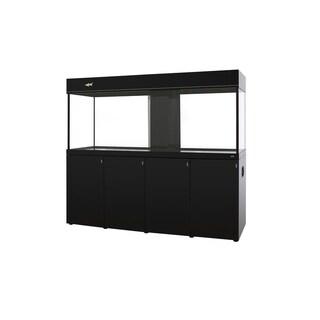 255 Gallon Glass Aquarium Tank- Digital Temp Display, Platinum series - black - 255 gallon