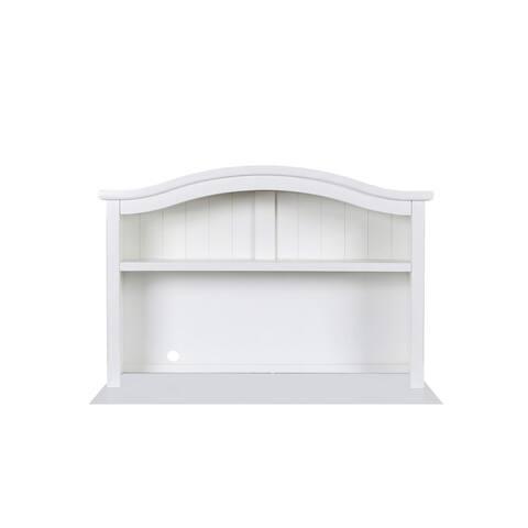 Bayfront Youth White Desk Hutch