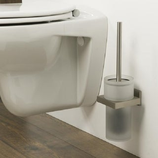 Tiger Toilet Brush And Holder Items Glass And Brushed Stainless Steel