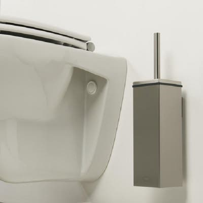 Tiger Toilet Brush and Holder Square Items Brushed Stainless Steel