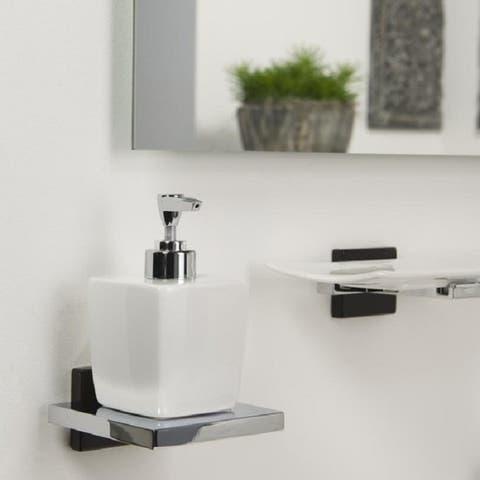 Tiger Soap Dispenser Zenna Ceramics And Chromed Metal