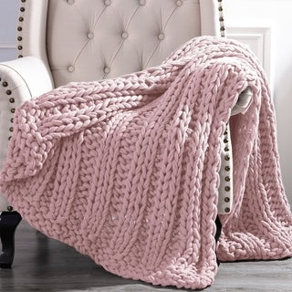 Link to Modern Threads Luxury Chunky Knit Acrylic Bed Sofa Throw Similar Items in Blankets & Throws