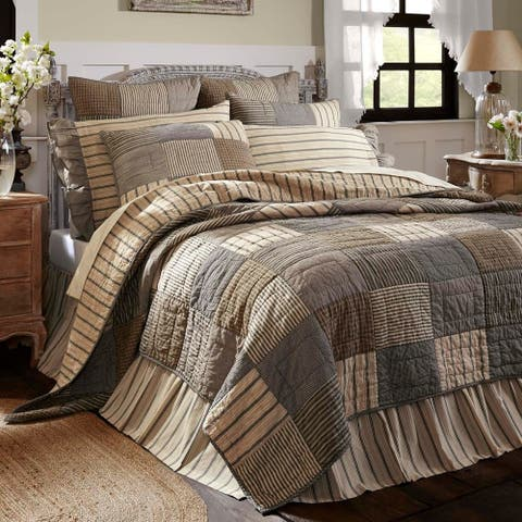 Sawyer Mill Quilt Queen Size Reversible Bedding (As Is Item)