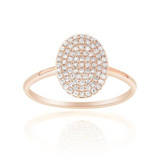 Link to 14KT Gold Diamond Oval Geometric Ring Similar Items in Rings