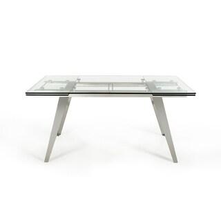 Modrest Barium Modern Extendable Glass Dining Table - Grey