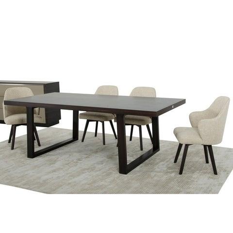 A&X Caligari Modern Oak Dining Table