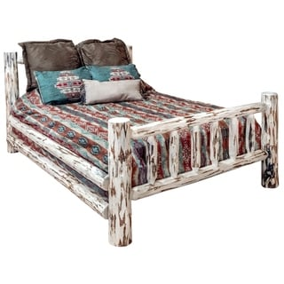 Great Lakes Collection Spindle Style Log Bed with Clear Lacquer Finish
